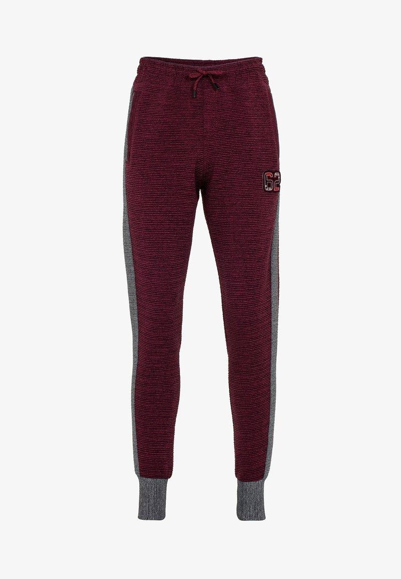 Cipo & Baxx - Tracksuit bottoms - burgundy-grey
