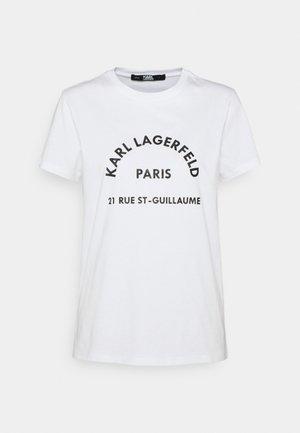 ADDRESS LOGO TEE - Print T-shirt - white