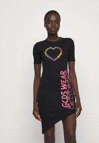 GCDS - ELEMENTS DRESS - Jersey dress - black - 0