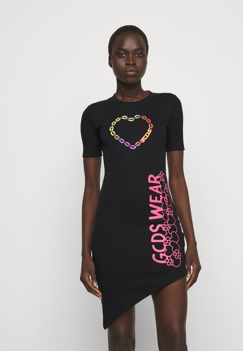 GCDS - ELEMENTS DRESS - Jersey dress - black