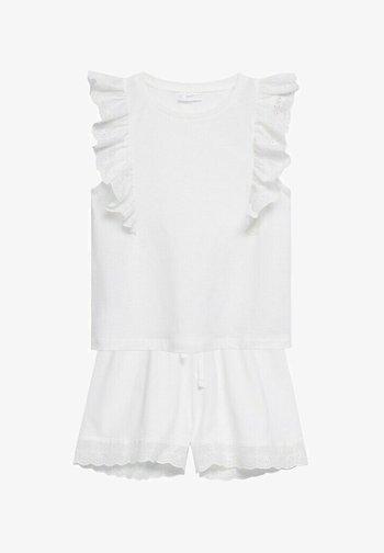 CORTO  RICAMO - Pyjama - bianco sporco