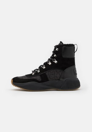 BONNET - Lace-up ankle boots - black