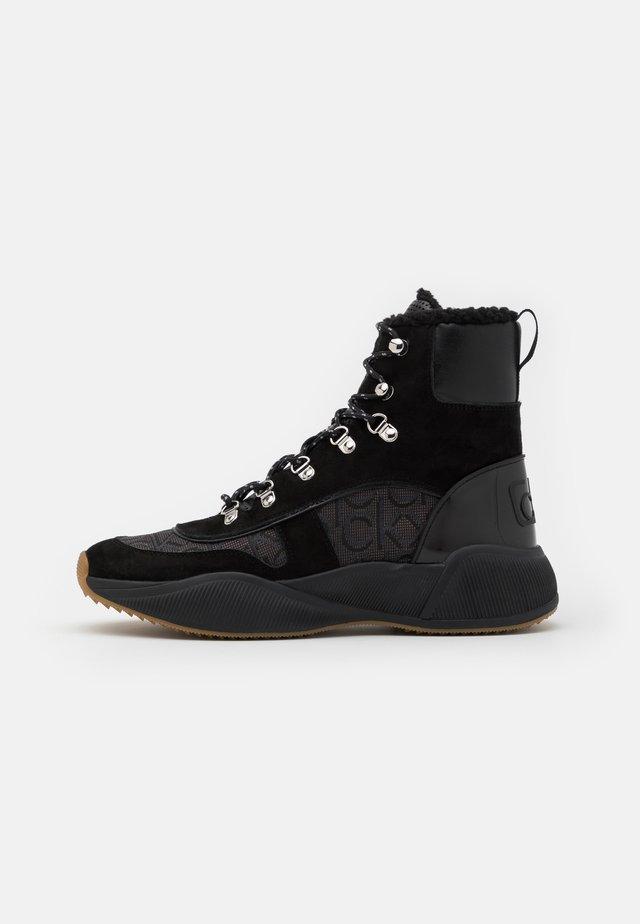 BONNET - Lace-up ankle boots - black