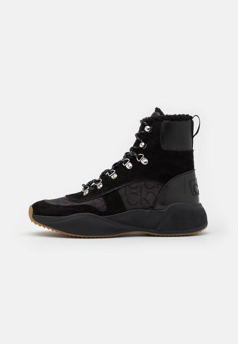Calvin Klein - BONNET - Lace-up ankle boots - black