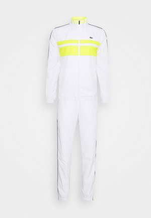 TRACK SUIT - Träningsset - white/pineapple/navy blue