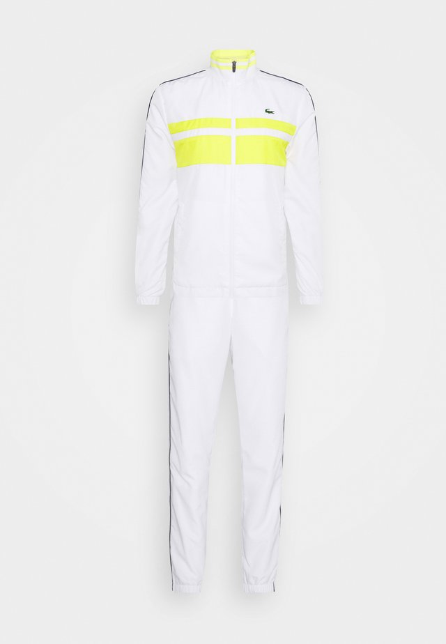 TRACK SUIT - Träningsset - white/pineapple/navy blue