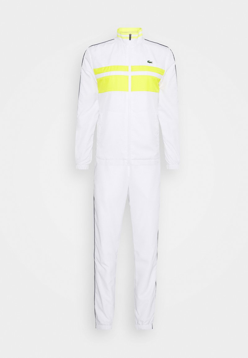 Lacoste Sport - TRACK SUIT - Tuta - white/pineapple/navy blue