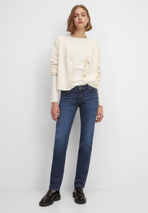 Jeans Tapered Fit - dark crosshatch wash