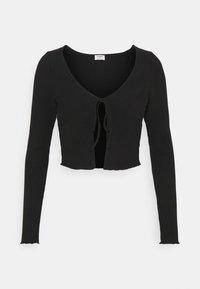Cotton On - VIVVY TIE FRONT - Cardigan - black - 3