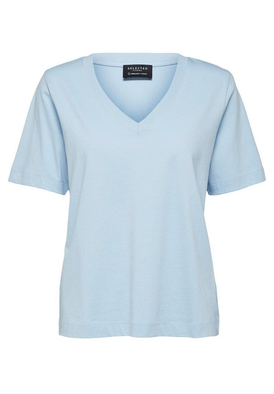 Mujer SLFSTANDARD  V NECK TEE  - Camiseta básica