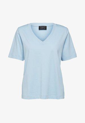 SLFSTANDARD - Basic T-shirt - cashmere blue