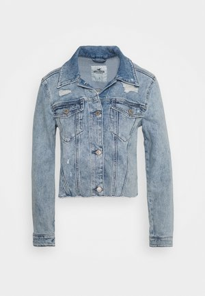 CROPPED JACKET - Giacca di jeans - blue denim