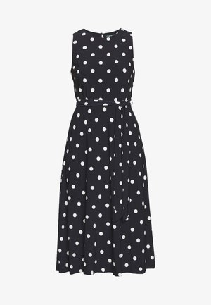 PRINTED MATTE DRESS - Jersey dress - navy