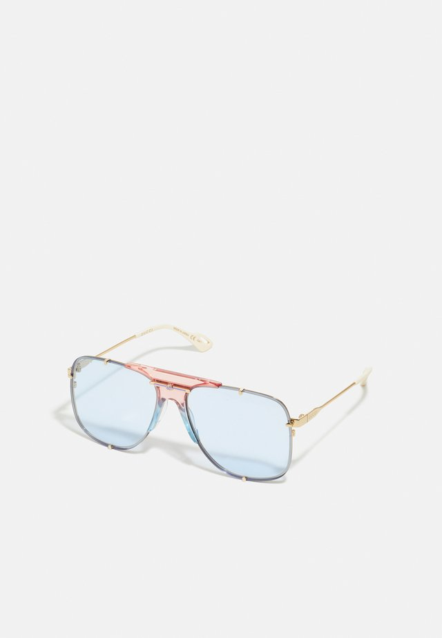 Lunettes de soleil - gold-coloured/light blue