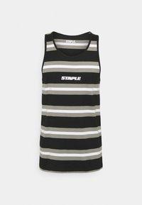 STAPLE PIGEON - STRIPED TANK UNISEX - Top - black - 4