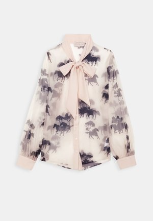 FORREST PRINT TIE NECK BLOUSE - Button-down blouse - cream