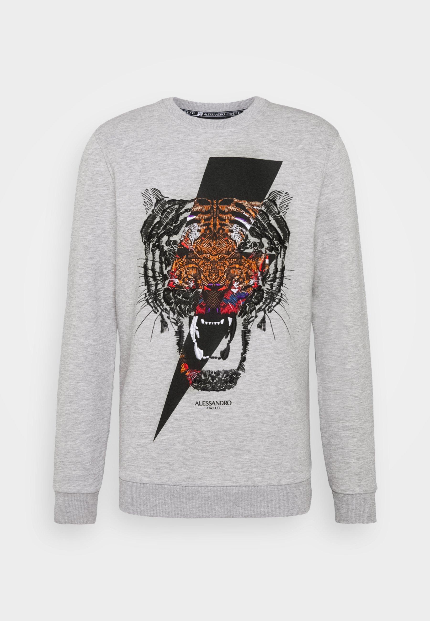 Alessandro Zavetti Tigerbolt - Sweatshirt Grey/grå