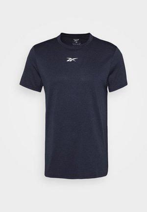 WOR MELANGE TEE - T-shirt print - navy