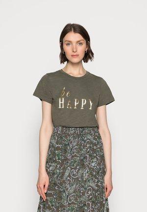 BRITT - T-shirts med print - grape leaf