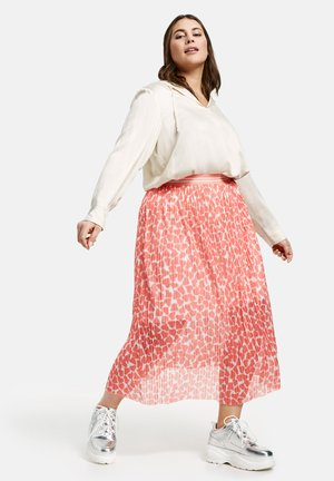 A-line skirt - fusion coral gemustert