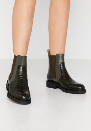 Classic ankle boots - green/silver
