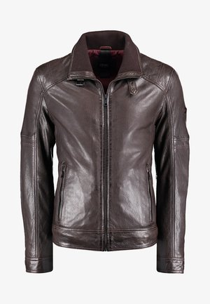 Leather jacket - brown