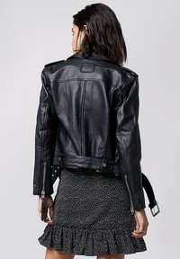 Tigha - ALL TIME FAV BIKER - Leather jacket - black - 2