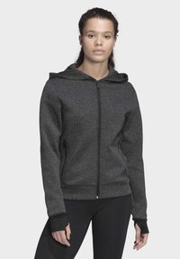 adidas Performance - MUST HAVES VERSATILITY HOODIE - Collegetakki - black - 0