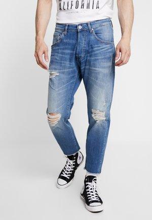JJIFRANK LEEN - Straight leg jeans - blue denim
