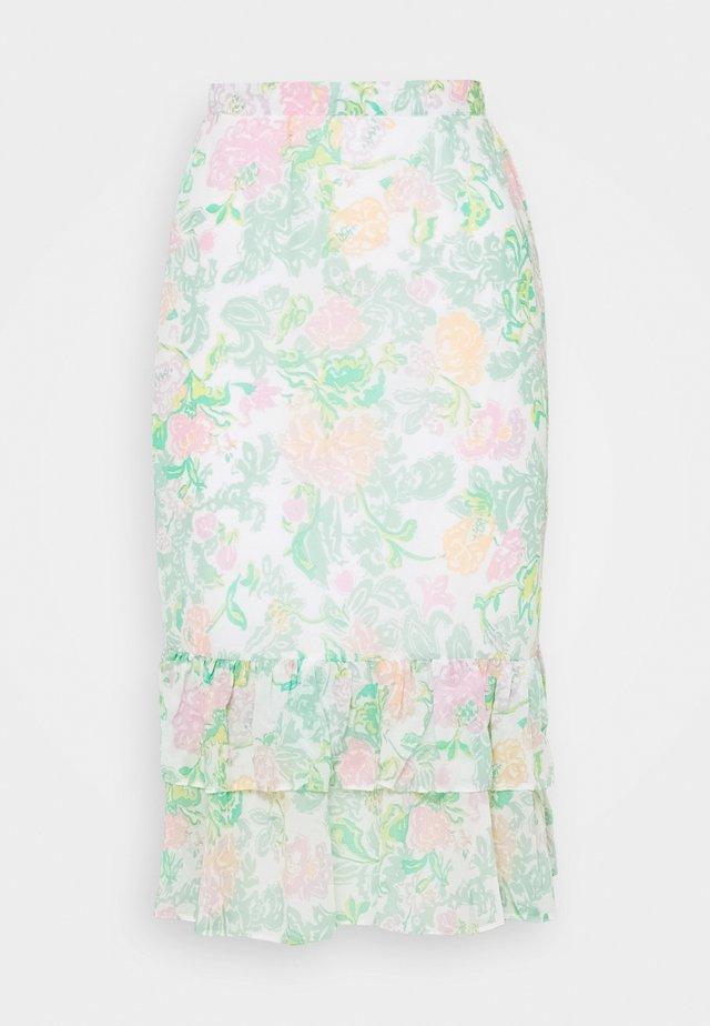 TIERRED MIDI - Pencil skirt - green