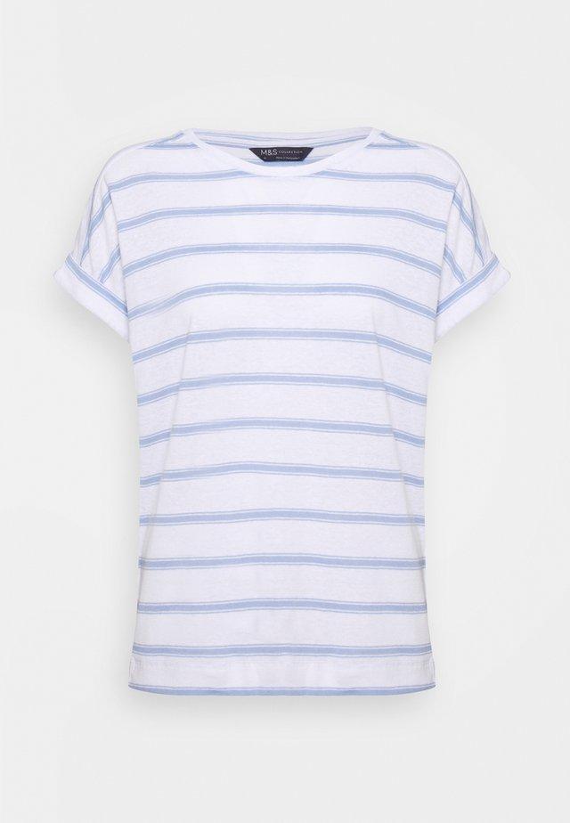 STRIPE - Camiseta estampada - blue