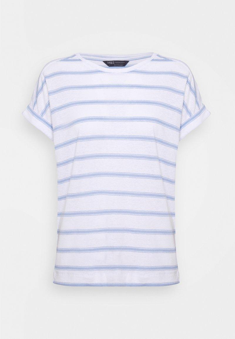 Marks & Spencer London - STRIPE - Print T-shirt - blue