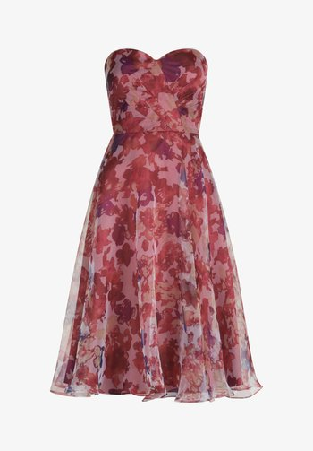 Cocktail dress / Party dress - cream/red