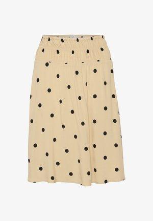 ISOLSZ  - Mini skirt - creme circular dot