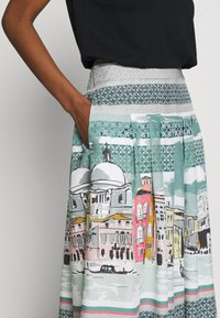 Thought - CANALETTO SKIRT - A-linjekjol - lagoon blue - 4