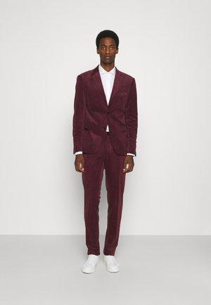 SUIT SET - Kostym - burgundy