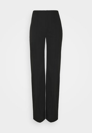 EAM DETAIL STRAIGHT LEG TROUSERS - Trousers - black