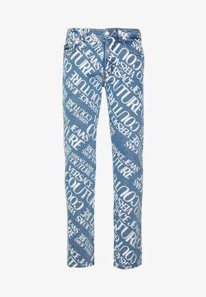 MILANO ALLOVER LOGO - Jeans Slim Fit - blue denim