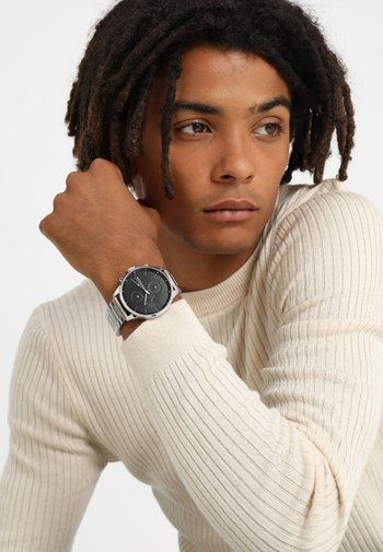 CASUAL CHASE - Chronograph watch - silver-coloured/black