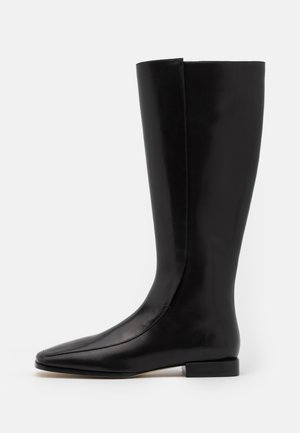 SQUARE TOE BOOT - Vysoká obuv - perfect black