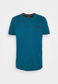 Jednoduché triko - petrol blue