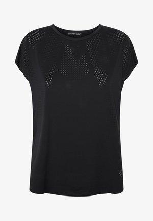 MIT LASER-CUT-OUT - T-Shirt basic - black