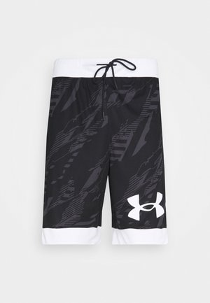 PRINTED RETRO - Sports shorts - black