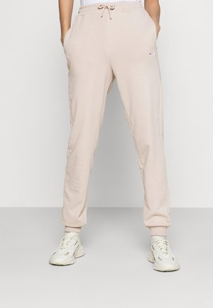 EDENA HIGH WAIST PANTS - Tracksuit bottoms - oxford tan