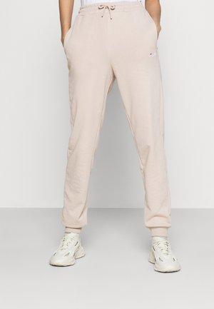 EDENA HIGH WAIST PANTS - Pantalon de survêtement - oxford tan