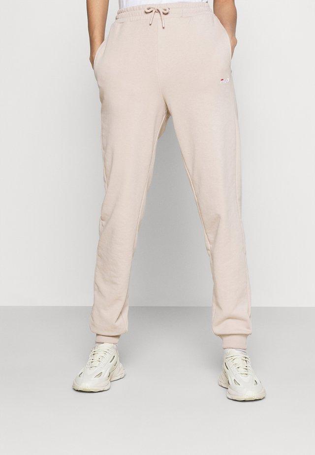 EDENA HIGH WAIST PANTS - Teplákové kalhoty - oxford tan