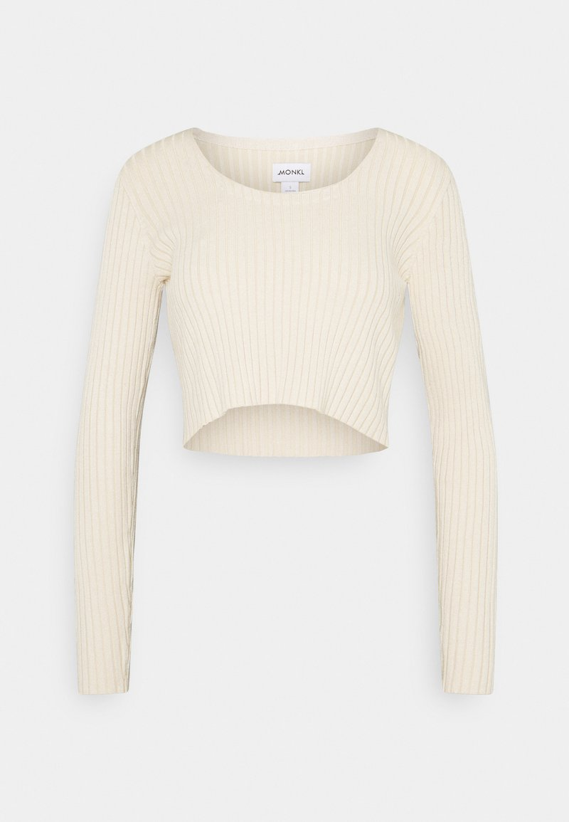 Monki - SANNA - T-shirt à manches longues - light beige