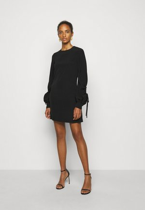 DRAWSTRING SLEEVE SHIFT DRESS - Cocktail dress / Party dress - black