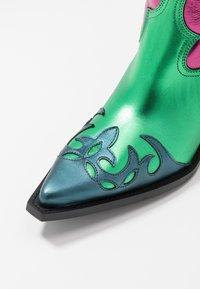 Toral - Cowboy/Biker boots - multicolor/pink/green - 2