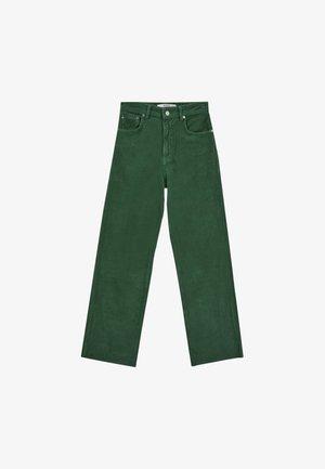 STRAIGHT-FIT AUS  - Tygbyxor - mottled green
